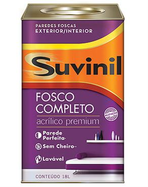 Picture of LATEX SUVINIL ACRILICO FOSCO 18L TULIPA VIOLETA